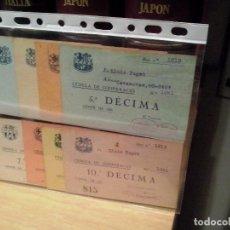 Coleccionismo deportivo: F.C. BARCELONA 10 CEDULAS COOPERACION 1ª A 10ª DECIMA 1922/1931. Lote 81033248