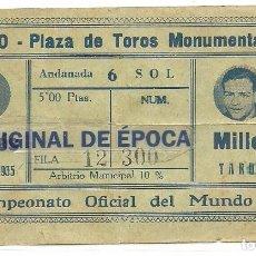 Coleccionismo deportivo: (F-170417)ENTRADA BOXEO ORIGINAL COMBATE JOSEP GIRONES-MILLER,CAMPEONATO DEL MUNDO,17-2-1935. Lote 82277808