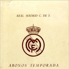 Coleccionismo deportivo: REAL MADRID FOLLETO ABONOS 1947-48. Lote 82601580