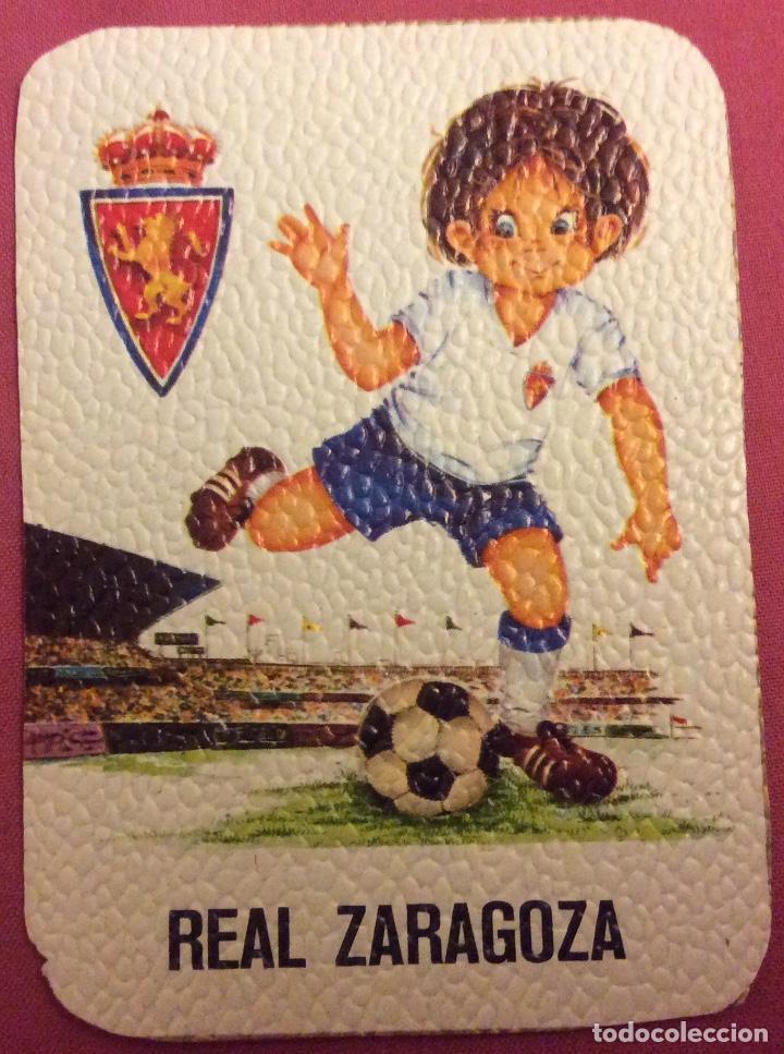 REAL ZARAGOZA. MEDIDAS 7,5 CM X 10,5 CM (Coleccionismo Deportivo - Documentos de Deportes - Otros)