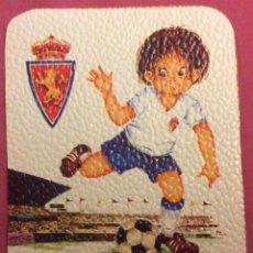 Coleccionismo deportivo: REAL ZARAGOZA. MEDIDAS 7,5 CM X 10,5 CM. Lote 82783252