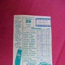 Coleccionismo deportivo: RESGUARDO QUINIELA FUTBOL. JORNADA 29. 19 ABRIL 1964.. Lote 83066276