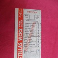 Coleccionismo deportivo: RESGUARDO QUINIELA FUTBOL. 9ª JORNADA. 10 NOVIEMBRE 1957. . Lote 83066464