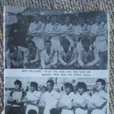 Coleccionismo deportivo: ANTIGUA PEQUEÑA HOJA DEPORTIVA - FUTBOL JUGADORES EQUIPOS - EQUIPOS 1984 RAYO VALLECANO - ALBACETE. Lote 83332192