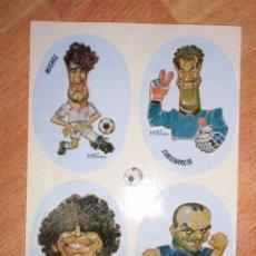 Coleccionismo deportivo: ANTIGUAS PEGATINAS FUTBOL REAL MADRID MICHEL SQUILACHE MARADONA ZUBIZARRETA. Lote 83539040