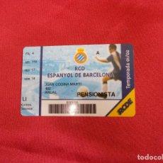 Coleccionismo deportivo: CARNET DE SOCIO R C. D ESPANYOL DE BARCELONA. ABONO TEMPORADA 01-02.. Lote 83583540