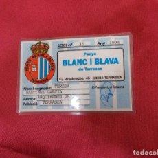 Coleccionismo deportivo: CARNET DE SOCI. SOCIO PENYA BLANC I BLAVA DE TERRASSA. 1994.. Lote 83595492