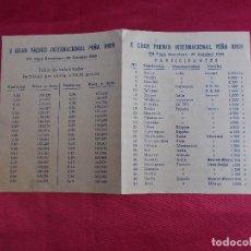 Coleccionismo deportivo: X GRAN PREMIO INTERNACIONAL. VII COPA BARCELONA. 29 OCTUBRE 1950.. Lote 83735392
