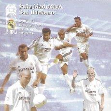 Coleccionismo deportivo: PARTICIPACION DE LOTERIA PEÑA MADRIDISTA SAN ILDEFONSO, CORNELLA, BARCELONA. 2003.. Lote 84012596
