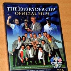 Coleccionismo deportivo: DVD EN INGLÉS SOBRE GOLF: THE 2010 RYDER CUP - OFFICIAL FILM - DURACIÓN APROXIMADA: 149 MINUTOS. Lote 84020672