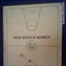 Coleccionismo deportivo: LIBRILLO REGLAS OFICIALES BALONCESTO 1972 - 76 FEDERACION ESPAÑOLA USADO. Lote 87203248