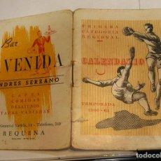 Coleccionismo deportivo: CALENDARIO FUTBOL PRIMERA CATEGORIA REGIONAL VALENCIA 1960 1961 FOTOS HOJA A HOJA. Lote 87271052
