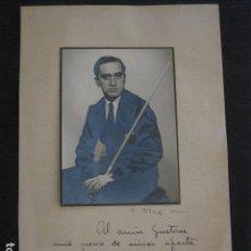 Coleccionismo deportivo: BILLAR - FOTOGRAFIA DEDICADA Y AUTOGRAFIADA - AÑO 1943 - VER FOTOS -(V-11.292). Lote 87853080