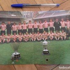 Coleccionismo deportivo: FELICITACION Y AGRADECIMIENTO CON FOTO PLANTILLA 1975 ATHLETIC CLUB BILBAO. Lote 88009908