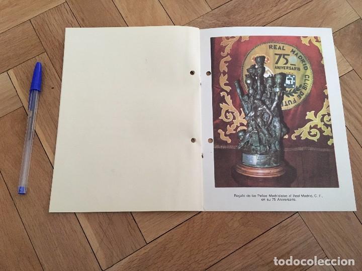 Coleccionismo deportivo: 75 ANIVERSARIO REAL MADRID FOTOGRAFIA PIRRI CON TROFEO 1977 - Foto 4 - 88015368