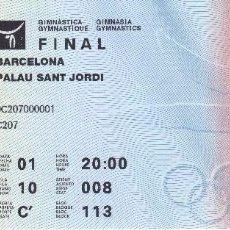 Coleccionismo deportivo: ENTRADA DE LA FINAL DE GIMNASIA - OLIMPIADAS DE BARCELONA'92 EN EL PALAU SANT JORDI (COBI). Lote 88187580