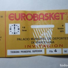 Coleccionismo deportivo: ENTRADA BALONCESTO EUROBASKET 73 CAMPEONATO EUROPA -BARCELONA. Lote 131444655