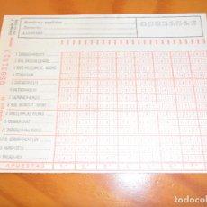 Coleccionismo deportivo: QUINIELA - LIGA 1978 JORNADA 7 - BURGOS, BARACALDO, BARCELONA, REAL MADRID... Lote 89192652