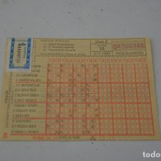 Coleccionismo deportivo: QUINIELA DE 1989. Lote 90621260