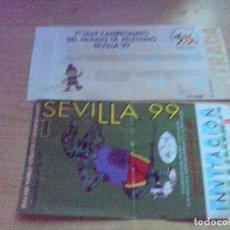 Coleccionismo deportivo: 2 ENTRADAS DEL 7º CAMPEONATO DEL MUNDO DE ATLETISMO SEVILLA 1999. Lote 90677230