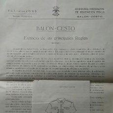 Coleccionismo deportivo: REGLAS DE BALONCESTO Y UNIFORME DE LA SECCION FEMENINA VALENCIA 1940 FALANGE. Lote 90913530
