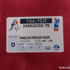Coleccionismo deportivo: ENTRADA ABONO FINAL FOUR. ZARAGOZA 1995.. Lote 90914945