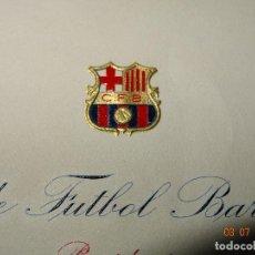 Collectionnisme sportif: ANTIGUA CARTA DEL PRESIDENTE A COMPROMISARIO DEL CLUB DE FUTBOL BARCELONA DE JUNIO DE 1957. Lote 91915510