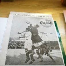 Coleccionismo deportivo: RARO RECORTE DE REVISTA DE UN PARTIDO DE LA LIGA ESPAÑOLA DE FÚTBOL ENTRE EL REAL MADRID Y EL RACING. Lote 92451214