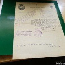 Coleccionismo deportivo: DOCUMENTO DE LA FEDERACIÓN MURCIANA DE FÚTBOL. 1953. CLUB DE FÚTBOL SAGRADO CORAZÓN DE ALICANTE. Lote 92813827