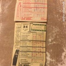 Coleccionismo deportivo: 3 QUINIELAS ESPAÑOLAS CON PARTIDOS DE LA LIGA ITALIANA 1967. Lote 93194537