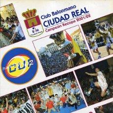 Coleccionismo deportivo: BALONMANO - DOSSIER MITICO BM CIUDAD REAL - TEMPORADA 2002-03. Lote 93396035