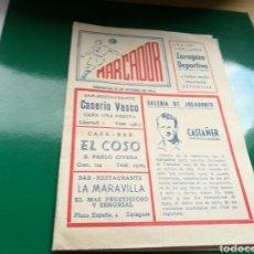 Coleccionismo deportivo: REVISTA CALENDARIO DE FÚTBOL MARCADOR. ZARAGOZA DEPORTIVA. OCTUBRE DE 1954. Lote 94131073