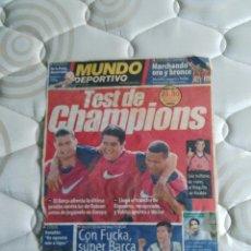 Coleccionismo deportivo: ANTIGUA PORTADA COLOR F.C. BARCELONA MUNDO DEPORTIVO (PRINCIPIOS 2000) RIQUELME, RIVALDO (BARÇA). Lote 94483090
