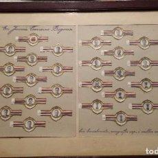 Coleccionismo deportivo: C. F. BARCELONA. VITOLAS CONMEMORATIVAS CAMPEONES DE LIGA 1951-52 COLECCION COMPLETA. Lote 95431679
