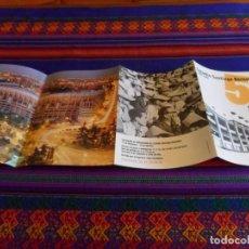 Coleccionismo deportivo: REAL MADRID, PANFLETO ESTADIO SANTIAGO BERNABÉU 50 AÑOS DE HISTORIA. REGALO GUÍA MADRIDISTA 94 95.. Lote 95693675