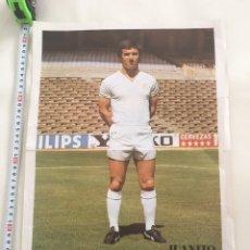 Coleccionismo deportivo: POSTER DE PERIÓDICO - JUANITO JUGAGOR REAL MADRID 40 CM APROX. Lote 95745182
