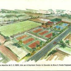 Coleccionismo deportivo: 1978.- MOIA - FUTURA ZONA DEPORTIVA DEL C.D.MOIA VISTA POR EL ARQUITECTO TECNICO DE EJECUCION. Lote 95754379