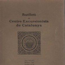 Coleccionismo deportivo: BUTLLETI CENTRE EXCURSIONISTA DE CATALUNYA OCTUBRE 1916 - BARCELONA. Lote 95761911