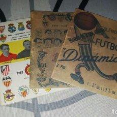 Coleccionismo deportivo: CALENDARIO DINÁMICO 1949/50, 1950/51 Y 1967/68. . Lote 96841687