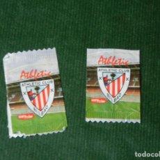 Coleccionismo deportivo: 2 ENVOLTORIOS CHOCOLATINAS AGRUCONF - ATHLETIC CLUB BILBAO. Lote 97196211