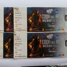Coleccionismo deportivo: ENTRADA S. CUARTOS SEMIS Y FINAL. COPA REY BALONCESTO BILBAO 2010. Lote 97224087