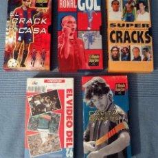 Coleccionismo deportivo: LOTE DE 5 VIDEOS VHS VARIADOS BARÇA DE LA COLECCIÓN DEL MUNDO DEPORTIVO Y PERIÓDICO, VER FOTOS. Lote 97354547