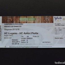 Coleccionismo deportivo: ENTRADA TICKET HOCKEY - HC LUGANO VS HC AMBRI PIOTTA. Lote 97464203
