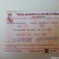 Coleccionismo deportivo: ANTIGUA ENTRADA BALONCESTO REAL MADRID. Lote 98059908