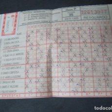 Coleccionismo deportivo: RESGUARDO QUINIELA 28-4-1985 24 DE ABRIL DE 1985. Lote 98079499