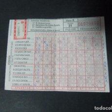 Coleccionismo deportivo: RESGUARDO QUINIELA 31-3-85 31 DE MARZO DE 1985. Lote 98085103