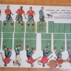 Coleccionismo deportivo: RECORTABLE FUTBOL -2 CARAS - MARCA EL TORO -SERIA A Nº 9. Lote 98187535