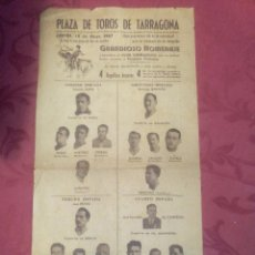 Coleccionismo deportivo: CARTEL DE TOROS HOMENAJE AL CLUB GIMNASTIC POR SU ASCENSO A 1ª DIVISION .- TARRAGONA 1947. Lote 98191243