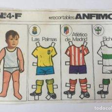 Coleccionismo deportivo: RECORTABLE ANFIMON. EQUIPOS LAS PALMAS, ATLÉTICO DE MADRID, ELCHE.. Lote 98714515