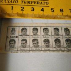 Coleccionismo deportivo: 1959 ALINEACION EQUIPO FUTBOL - 11 JUGADORES Y ESCUDO -L. PALMAS 1958. Lote 98856211